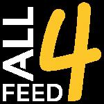 ALL4FEED Bretagne Dinan - Nutrition Animale - Logo BLANC de l'entreprise ALL4FEED