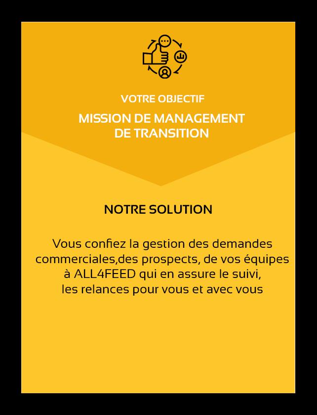 ALL4FEED-accelerateur-de-developpement-objectif mission management de transition-solution-vous confiez la gestion des demandes commerciales, des prospects, de vos équipes à ALL4FEED qui en assure le suivi et les relances pour vous et avec vous